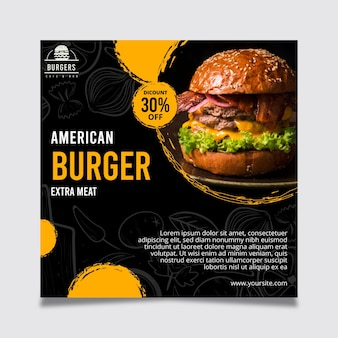 Folleto de comida americana
