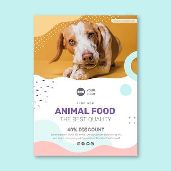 Folleto de comida para animales vertical