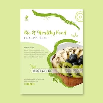 Folleto de comida sana y bio