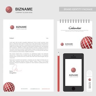 Folleto de la compañía con diseño elegent y también con logo de bola