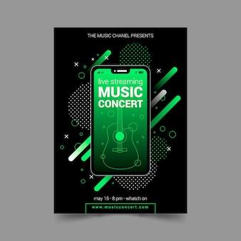 Folleto de concierto de música en vivo