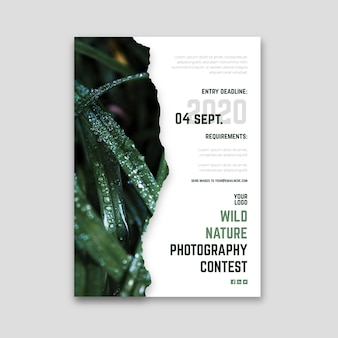 Folleto del concurso de fotografía de naturaleza salvaje
