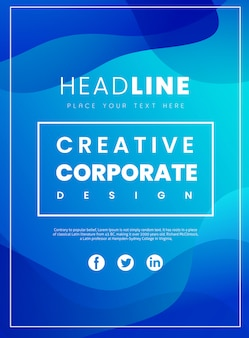 Folleto corporativo creativo