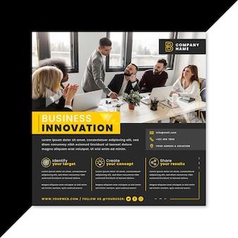 Folleto cuadrado de innovación empresarial