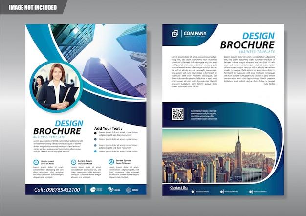 Folleto de la cubierta folleto o folleto de informe anual