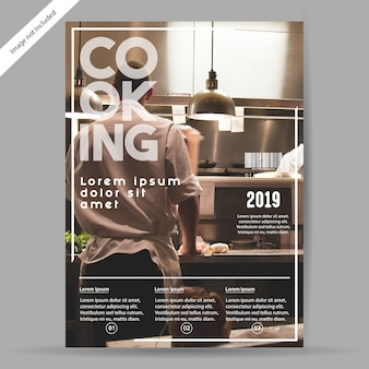 Folleto culinario / folleto de plantilla
