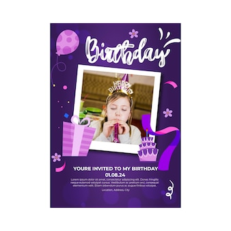 Folleto de cumpleaños para niños