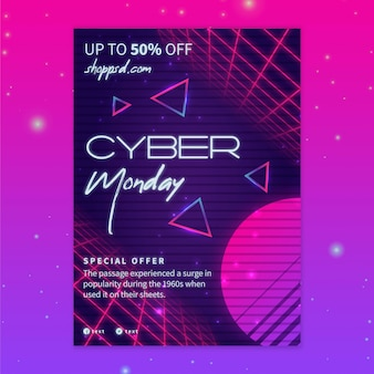 Folleto de cyber monday a5 vertical
