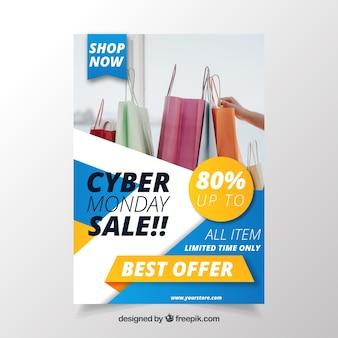 Folleto de ofertas de cyber monday