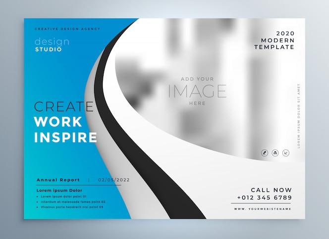 Folleto de presentación de negocios moderno diseño de flyer
