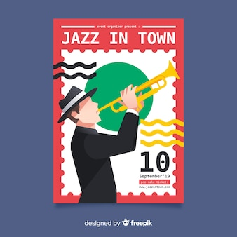 Folleto del día internacional del jazz
