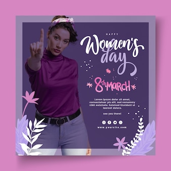 Folleto del día internacional de la mujer