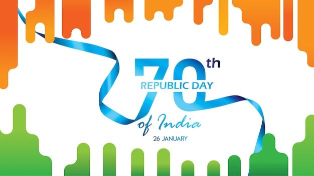 Folleto para el día de la república de la india.