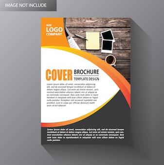 Folleto diseño informe anual folleto cartel con forma geométrica