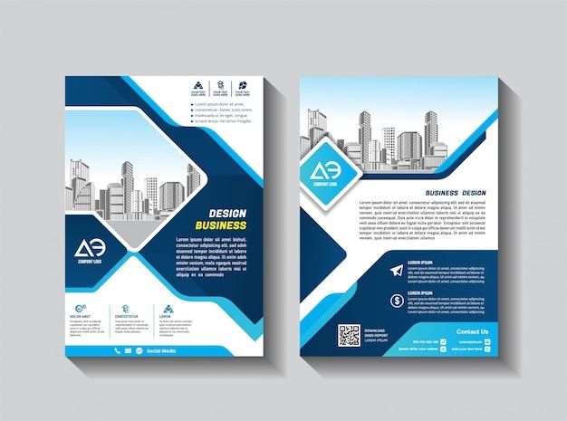 Folleto de diseño de portada catálogo de revistas para informe anual