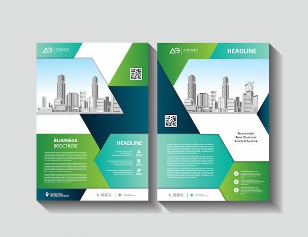 Folleto de diseño de portada diseño moderno informe anual folleto publicitario
