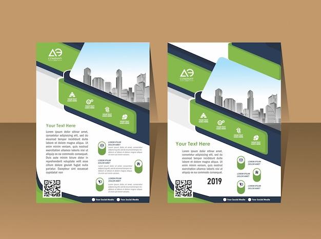 Folleto de diseño de portada folleto para evento e informe