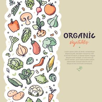 Folleto de diseño vectorial con la decoración de la fruta.