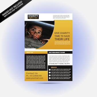 Folleto de donación