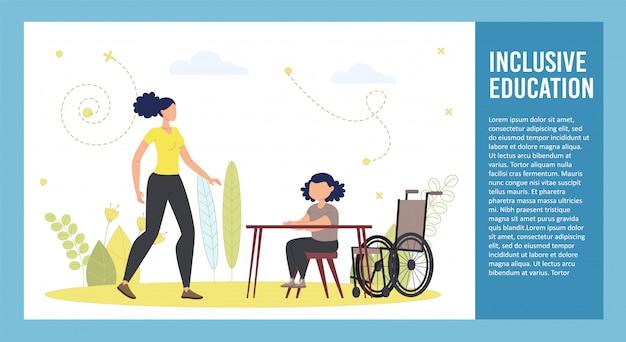Folleto de educación para niños discapacitados