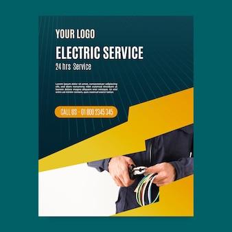 Folleto de electricista vertical