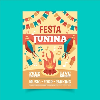 Folleto del evento festa junina