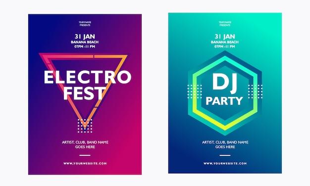 Folleto del evento de música electro dj