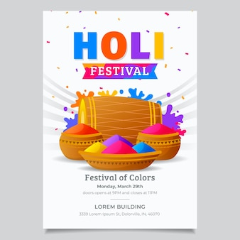 Folleto del festival holi plano