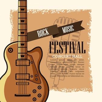 Folleto del festival de música rock
