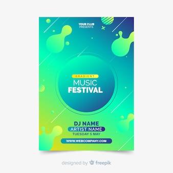 Folleto de festival de música