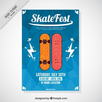 Folleto de festival de skate