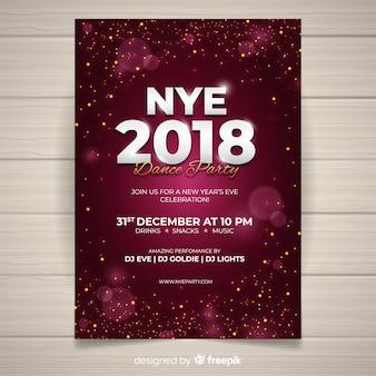 Folleto de fiesta de año nuevo 2019
