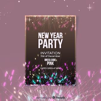 Folleto de fiesta de año nuevo