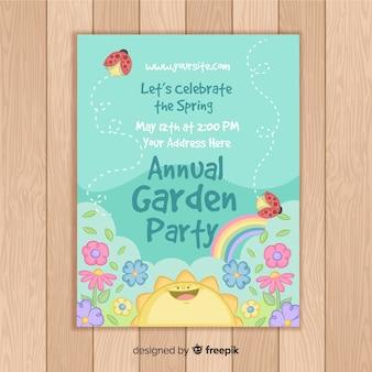 Folleto de fiesta anual de jardín