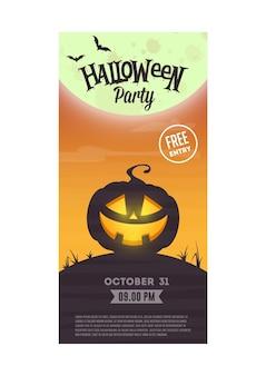 Folleto de fiesta de halloween