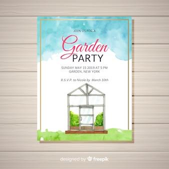 Folleto de fiesta de jardín