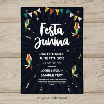 Folleto de fiesta junina