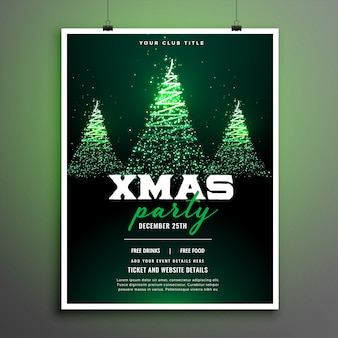 Folleto de fiesta de navidad o plantilla de póster