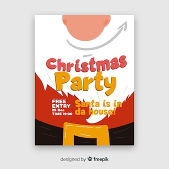 Folleto de fiesta navideña