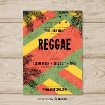 Folleto de fiesta de reggae