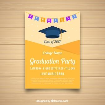 Folleto de fiesta universitaria