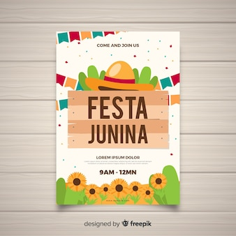 Folleto de fiestas juninas