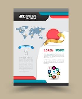 Folleto flyer diseño gráfico disposición