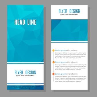 Folleto flyer diseño layout template
