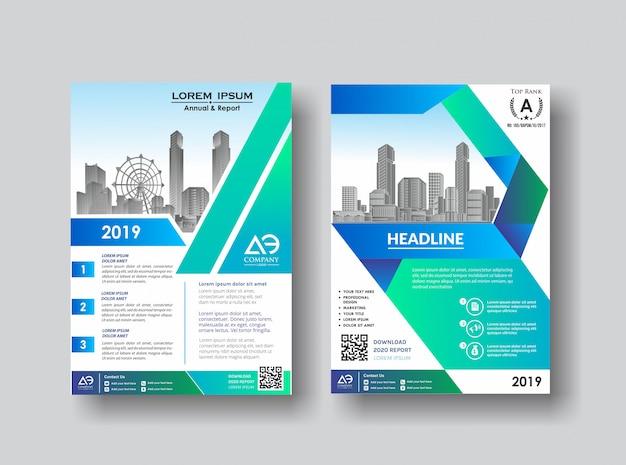 Folleto de folleto de diseño de portada creativa para evento