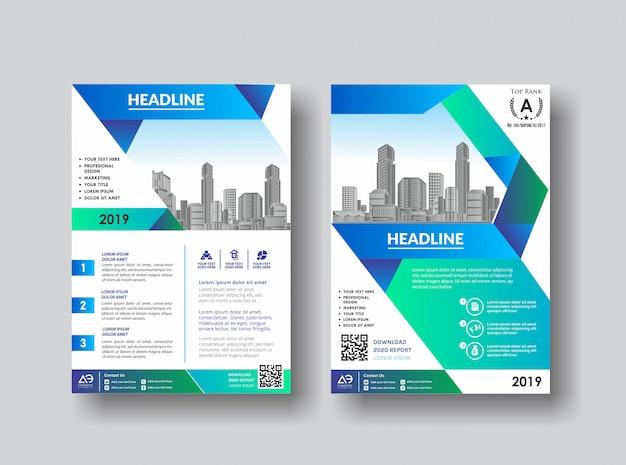 Folleto de folleto de diseño de portada simple para el fondo