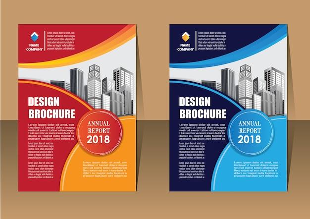 Folleto folleto de informe anual de diseño de folleto