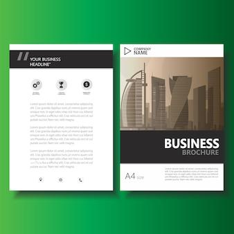 Folleto de folleto de negocios, plantilla de vector de informe anual