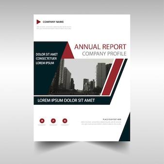 Folleto geométrico poligonal, reporte anual