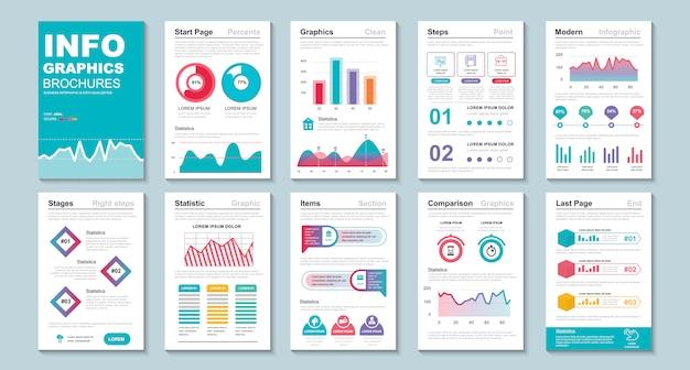 Folleto de infografía plantilla de visualización de datos.